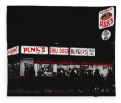 Pink's Hot Dogs Of Hollywood Fleece Blanket