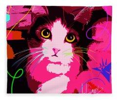 pOp Cat Callie Fleece Blanket