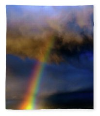 Rainbow During Sunset Fleece Blanket