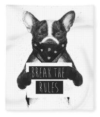 French Bulldog Mixed Media Fleece Blankets