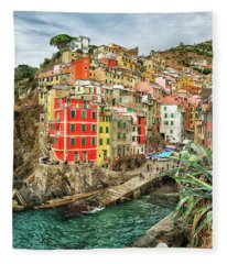 Riomaggiore Cinque Terre  Fleece Blanket