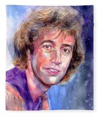 Robin Gibb Portrait Fleece Blanket