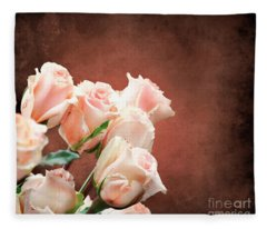 Roses Bouquet Fleece Blanket