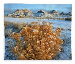 Ruby Mountain Rabbit Brush Fleece Blanket