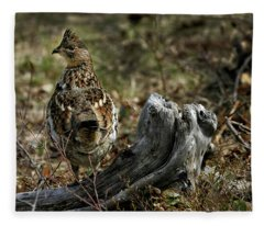 Ruffed Grouse 50701 Fleece Blanket