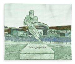 S M U Legend Doak Walker Fleece Blanket