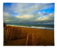 Sand Fences  Fleece Blanket