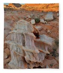 Sandstone Artwork In Valley Of Fire Fleece Blanket