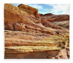 Ship Of Sandstone In Valley Of Fire Fleece Blanket