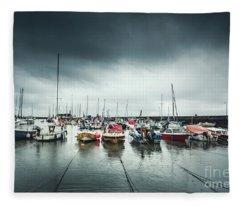 Silver Rain Fleece Blanket