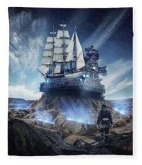 Spaceship Fleece Blanket