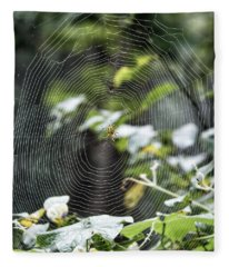 Spider At Work Fleece Blanket