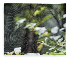 Spider At Work Fleece Blanket