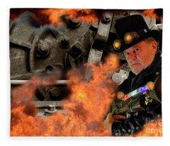 Steampunk Bob 21 Fleece Blanket
