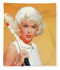 Stella Stevens, Vintage Actress Fleece Blanket