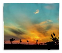 Sunset Silhouettes Fleece Blanket