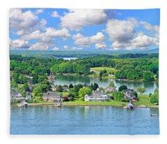 The Boardwalk, Smith Mountain Lake, Va. Fleece Blanket