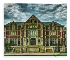 The Fine Arts Building - Ball State University Fleece Blanket