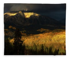 The Golden Light Fleece Blanket