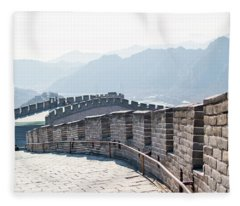 The Great Wall Of China Fleece Blanket