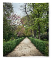 The Paths Of The Retiro Park Fleece Blanket