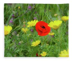The Red Spot Fleece Blanket