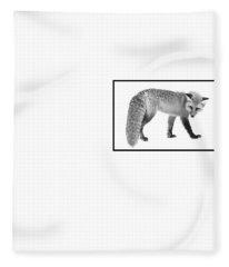 Fleece Blanket featuring the photograph The Silver Fox  by Andrea Kollo