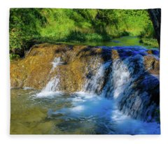 The Springs In It's Summer Green, Big Hill Springs Provincial Re Fleece Blanket