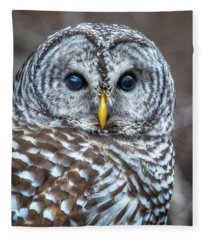 Barred Owl Fleece Blanket