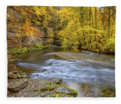 The Wutach Gorge Fleece Blanket