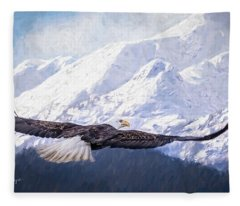 To The Hills... Fleece Blanket