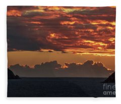Tortolla Sunrise Fleece Blanket