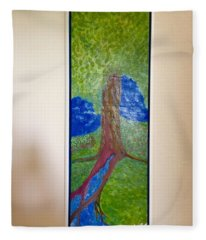 Tree Fountain Fleece Blanket