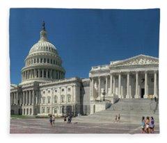 United States Capitol  Fleece Blanket