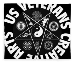 U.s. Veterans Creative Arts Fleece Blanket