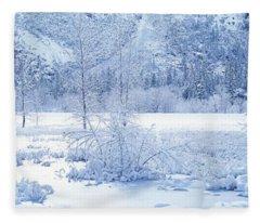 Usa, California, Yosemite Park Fleece Blanket