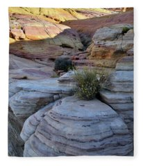 Valley Of Fire's Pastel Canyon Fleece Blanket