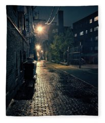 Vintage Chicago Alley Fleece Blanket