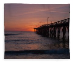 Virginia Sunrise Fleece Blanket