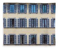 Wall Of Windows II Fleece Blanket
