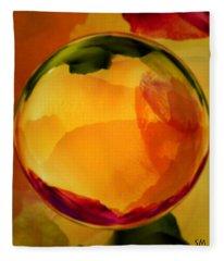 Watercolor Glass Marble  Fleece Blanket