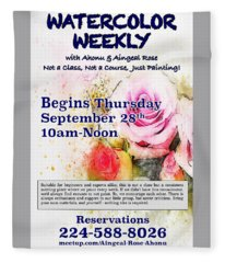 Watercolor Weekly Fleece Blanket