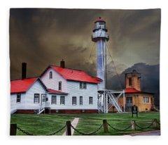 Whitefish Point Lighthouse Fleece Blanket