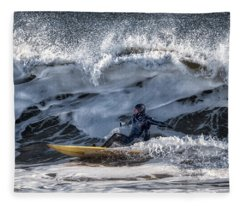 Winter Surfing Fleece Blanket