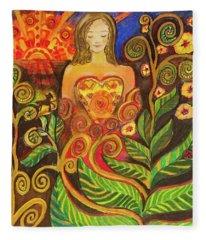 Zen Morning Fleece Blanket