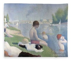 Bathers At Asnieres Fleece Blanket