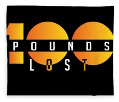 100 Pounds Lost Fleece Blanket