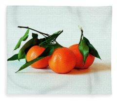 11--01-13 Studio. 3 Clementines Fleece Blanket