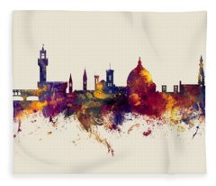Florence Italy Skyline Fleece Blanket