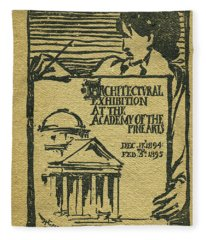 1894-95 Catalogue Of The Architectural Exhibition At The Pennsylvania Academy Of The Fine Arts Fleece Blanket